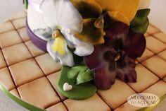 Pansy Cake detail - Pormenor Bolo Amores Perfeitos
