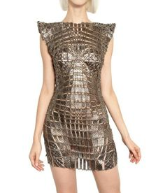 Paco Rabanne Metal Chain and Python Insert Dress « UpscaleHype     @pacorabanne3  #follow #twitter