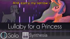 Lullaby for a Princess - |SOLO PIANO TUTORIAL w/ LYRICS| - Ponyphonic -- Synthesia HD