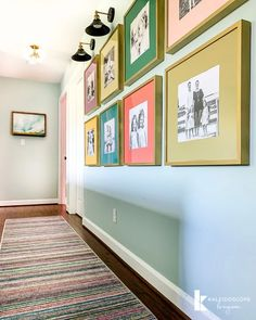 Colorful Upstairs Hallway Makeover Reveal Looking for hallway decorating ideas? Our long upstairs hallway needed some updating. So, we gave our hallway a colorful makeover! We manage Modern Hallway, Hallway Wall Decor, Hallway Walls, Upstairs Hallway, Hallway Lighting, Hallway Ideas, Budget Kitchen Remodel, Diy Bathroom Remodel, Narrow Hallway Decorating