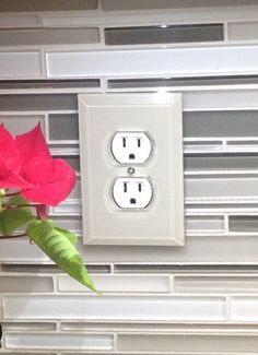 Clear Beveled Glass Switch Plates - Paint the back side to match your backsplash.