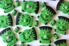 "A grandson was over the other day and asked if we could make Frankenstein cookies with my new cutter.  Of course I said ""Yes""!  Since he w..."