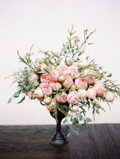 // Pink Peonies, romantic florals, wedding inspiration