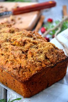 Gluten-Free Cinnamon Sweet Potato Loaf.