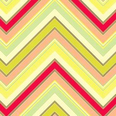 Heather Bailey - Pop Garden and Bijoux - Zig Zag in Peach