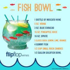 Flip Flop Wine Fish Bowl Recipe