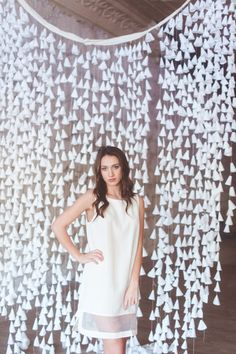 Sheer Paneled Dress - White