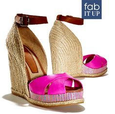 Add a bright pop of color with these designer wedges.