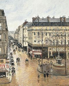 Camille Pissaro -- Rue Saint-Honoré in the Afternoon