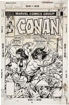 Gil Kane and Pablo Marcos Conan the Barbarian #70 Cover Original | Lot #92119 | Heritage Auctions