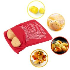 Poche de cuisson micro-ondes pour pommes de terre lavable