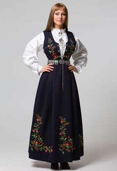 Designer Clothes, Shoes & Bags for Women Norway Clothes, Ethnic Fashion, Womens Fashion, Funky Outfits, Folk Costume, Lovely Dresses, Bergen, Traditional Dresses, Suikoden