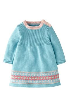 Mini Boden 'Fair Isle' Knit Dress (Baby Girls) available at ...