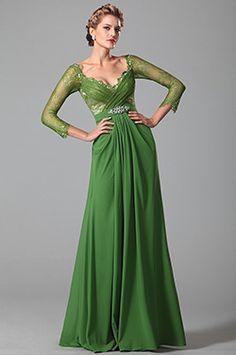 Vestido Formal para Madre de la Novia  Verde Encaje (26150904)