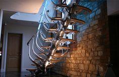 metal spine winding stairs