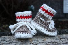 Sock Monkey Brown with Red Stripe Baby Toddler by 2CheekyChicks