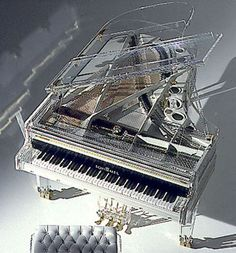 transparent concert piano
