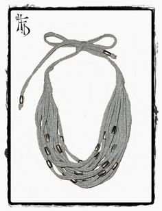 t-shirt necklace | Found on bloghfd.haveaflowerday.com