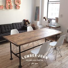 Reclaimed Wood Conference Table by LumberJuan on Etsy, $1099.00