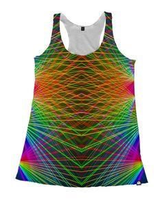 RUKES Rainbow Lasers Women's Tank