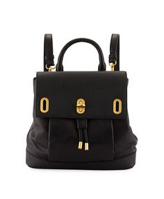 Anne Flap-Top Leather Backpack, Black - was $435.0, now $241.0 (45% Off). Picked by mickster @ Last Call by Neiman Marcus