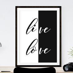 LOVE & LIVE http://etsy.me/2lqTxkH  #Etsy #Etsyshop #WallArt #HomeDecor #Printable #Quote #Inspirational #Motivational #love #EtsyFinds #EtsyForAll #Stampe #Prints #Decor #EtsyHunter #etsyseller #art #black #instalove #instalike #poster #love