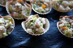 Mahi Mahi & Rock Shrimp with Avocado & Cucumber Cerviche  All Seasons Catering