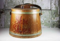 Antique Wooden Shoe Shine Kit by SouthernGilt on Etsy