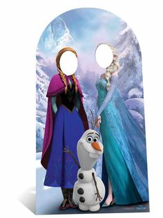 Fan Pack - Child Size Anna and Elsa with Olaf from Frozen Disney Cardboard Stand-in Cutout / Standee - Includes Photo Frozen Disney, Anna Frozen, Olaf Frozen, Walt Disney, Frozen Birthday Party, Frozen Theme Party, Birthday Party Themes, 3rd Birthday, Anna Et Elsa