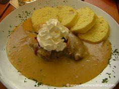 Tchech Republic:::: Svíčková, or svíčková na smetaně (Marinated Beef Sirloin)