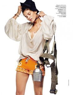 Raica Oliveira Does Camping Style with Elle France
