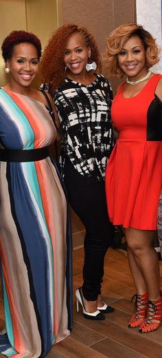 """Goo Goo"" Atkins, Tina Campbell, Erica Campbell at eOne Music's Pre-Dove Awards Celebration Dinner"