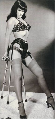 """Bettie Page....Look for the Film: """"The Notorious Bettie Page"""" Special Features have great Commentary by the Film Makers, and by Actress Gretchen Moll who stars as Bettie Page."""