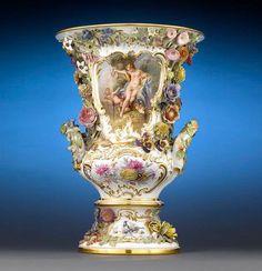 Meissen Porcelain Urn - 1860