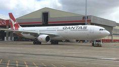 New livery on Qantas Airbus A330-330 (VH-QPJ)