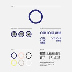 Identity for Open House Vilnius ~ design by Lina Marcinonytė