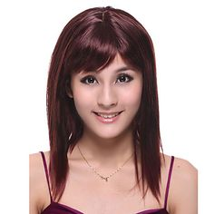 Capless Long High Quality Synthetic Red Wine Straight Hair Wig http://ltpi.co.nf/?item=194325