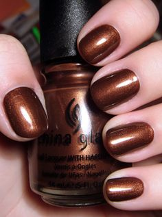 China Glaze 648 Unplugged. A gorgeous chocolate brown nail polish I *love* this one