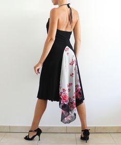Black Argentine Tango Dress Social Dance by CrinolinAtelier