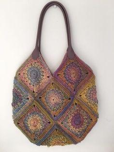 Dreamy coloured granny square bag