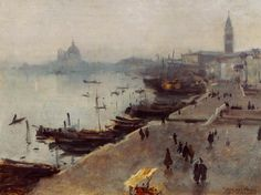 John Singer Sargent - Venice in Gray Weather, 1880-1882, oil on canvas
