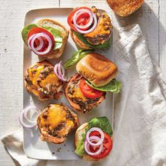 Smashed Double Cheeseburger Sliders | Cooking Light | You can easily make these on the grill instead of the stovetop. Just preheat the grill to high, and set a cast-iron skillet on the grill ...