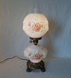 vintage hurricane lamps | Antique Victorian Hurricane Lamp