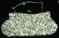Silver Color Beaded Handbag with Sequins - Handmade Evening Purse: http://www.amazon.com/Silver-Color-Beaded-Handbag-Sequins/dp/B002TXWE82/?tag=thewedspesit-20