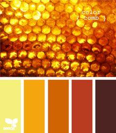Honey color palette