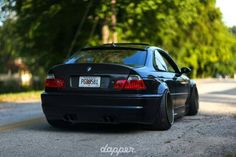 BMW E46 M3 black deep dish slammed stance dapper