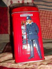 London Telephone Box Tea Tin Coin Bank Ahmad English Breakfast Tea