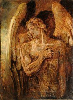 Emil Holárek (Czech, - Angel, ca. Angels And Demons, Fallen Angels, Bad Art, Guardian Angels, Metal Artwork, Sacred Art, Museum Of Fine Arts, Religious Art, Art History