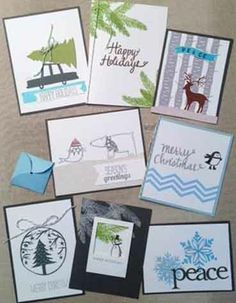 Winter wonderland cards from Savvy