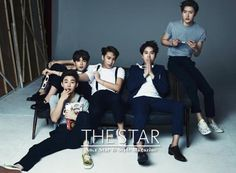 Super Junior M Graces the Cover of the One-Year Anniversary Issue of THE STAR | Soompi